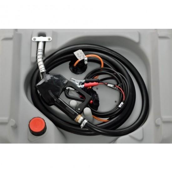 Rezervor mobil DT Mobil Easy 210 l cu electropompa 12V, 30 l/min, pistol automat si capac