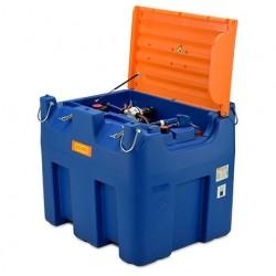 Rezervor mobil Blue-Mobil Easy 980 l BASIC cu electropompa 12 V, ochi pentru macara, capac cu balamale