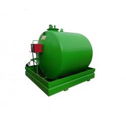 Rezervor suprateran de motorina cu perete simplu si cuva de retentie 3.000 l