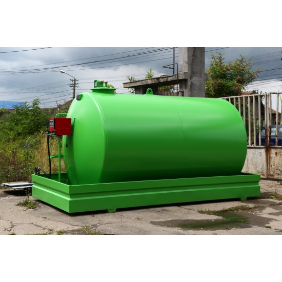 Rezervor suprateran de motorina cu perete simplu si cuva de retentie 9.500 l